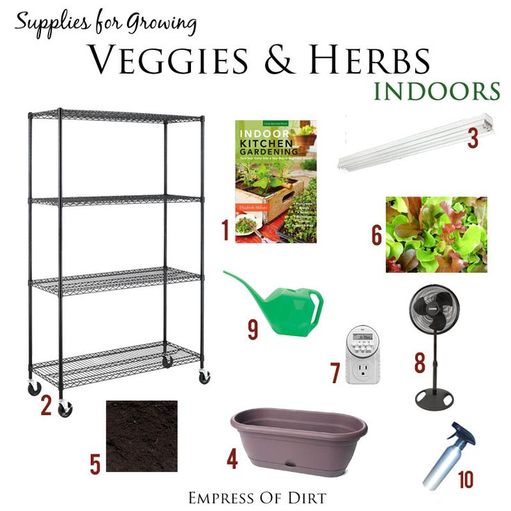 Supplies for growing veggies and herbs indoors all year round #ad