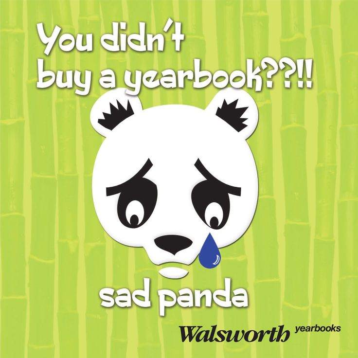 Don't be a sad panda, remember to buy your #yearbook! # ...