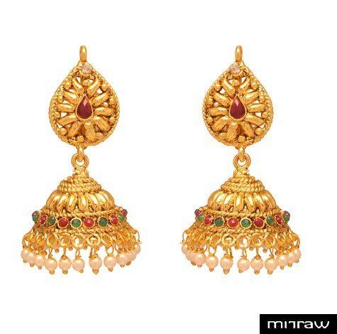 beautiful gold plated earrings