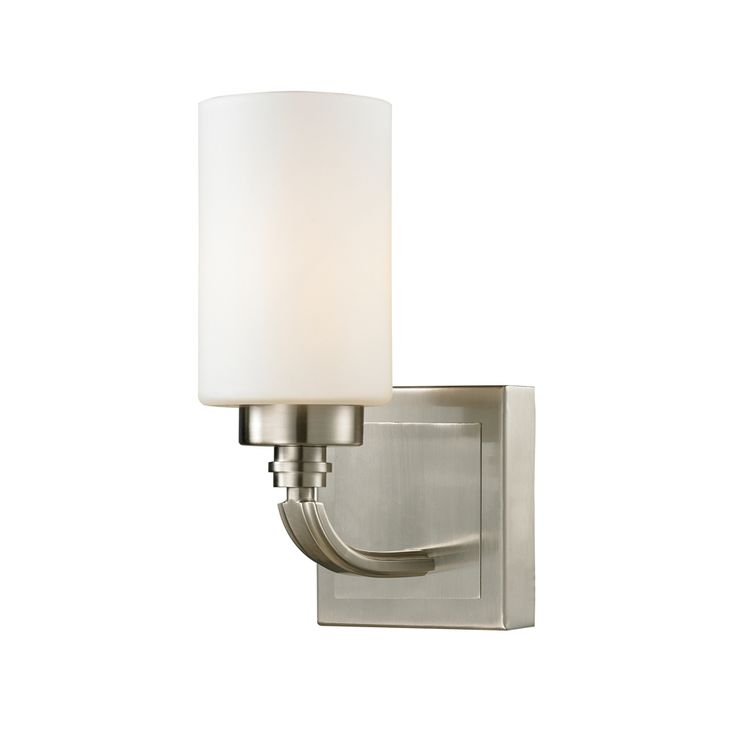off dawson brushed nickel led one light bath fixture by elk lighting dawson collection 1 light bath in brushed nickel led offering up to 800 lumens watt