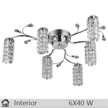 Plafoniera iluminat decorativ interior Rabalux, gama Glamour, model 2876