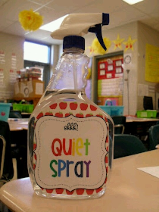 Quiet spray...great 4 teachers