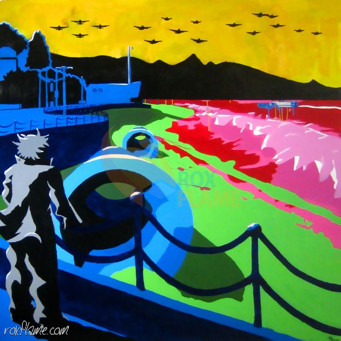 Rox Flame - Wellington New Zealand Artist - Dream of union - Multimedia Pop Art Painting