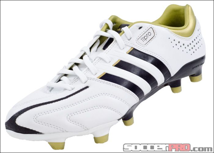 new style ba19e c557a ... black adidas adipure 11pro trx fg soccer cleats white with gold.