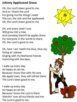 Johnny Appleseed Grace - who knew it had more verses