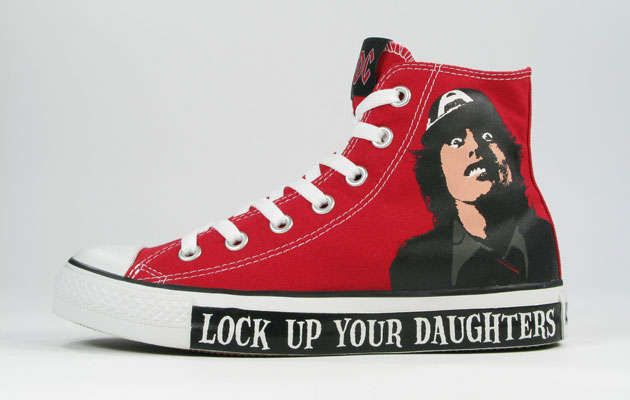 Rockstar Sneakers - Last fall, we brought you Converse's Black Sabbath-inspired shoes, and the Metallica and AC/DC trainers released by Converse are no less bada...