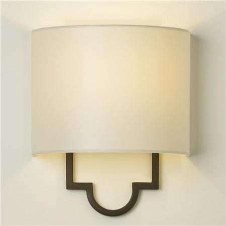 "Modern Classic Wall Sconce (3 finishes!)  The minimilistic design and simple elegance of this half-shade sconce, finished in Dark Bronze, Matte Gold or Satin Nickel, adds classic style to traditional or contemporary homes. Cream paper shade included. 60 watt candle bulb (not included). Backplate measurements: 5.5"" Square. (11""Hx10""Wx5.5""D)    Product SKU: SC09012 DB  Price:  $129.00"