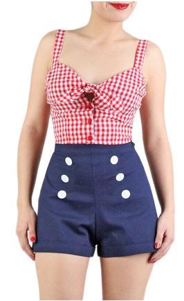 Sailor shorts + sweetheart neckline