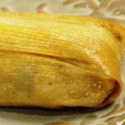 Tamales dulces de piña, coco y pasas @ allrecipes.com.mx  Pineapple, coconut tamales (I'm going to exclude the raisins) Makes: 3 dozen A handful of corn husks 2 ¼ lbs crushed pineapple 9 oz of sugar 1 ½ cups of water 2 ¼ lbs tamale mix (nixtamal) 9 oz butter 2 tbs baking powder 3 ½ oz  shredded coconut