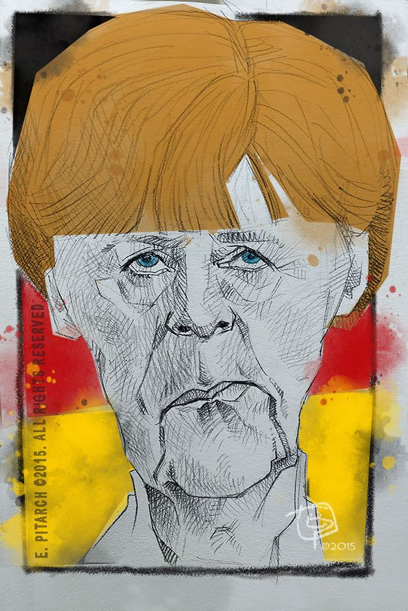 Angela Merkel. E. Pitarch © 2015. All rights reserved.