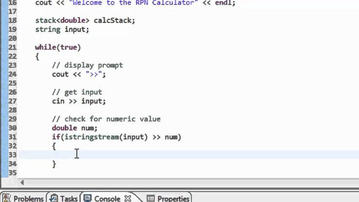 Data Structures Using C++: Using the Stack to create a RPN (post-fix not...