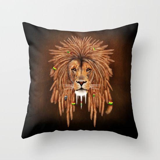 Rasta Lion Dreadlock THROW PILLOW CASE @pointsalestore #society6 #PillowCover #CostumPillow #Cushion #CushionCase #PersonalizedPillow #painting #digital #oil #popart #streetart #rasta #dreadlock #marley #bob #lion #lionking #simba #kingofthejungle #tarzan #music #raggae #africa #junglebook #beast #animal #cat #bigcat