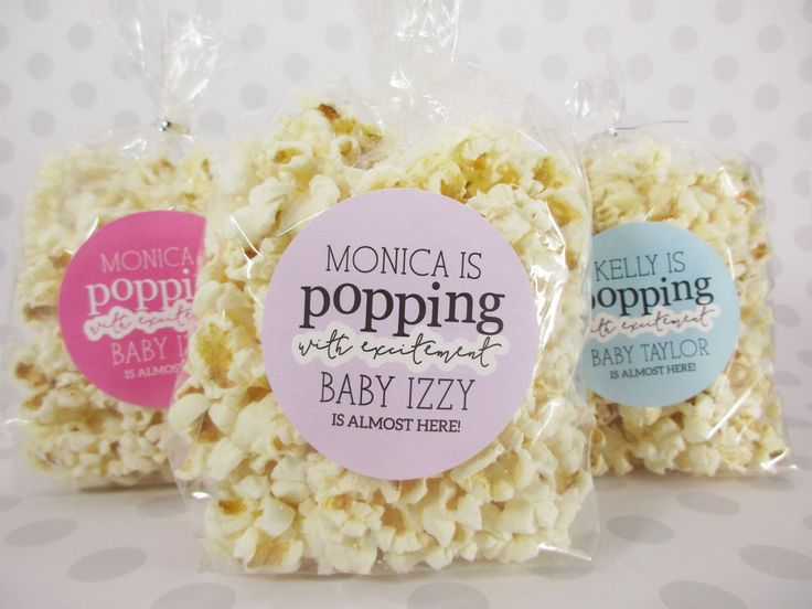 Baby shower favors popcorn