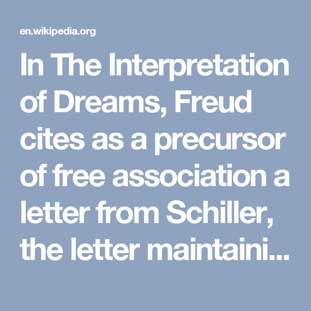 In The Interpretation Of Dreams Freud Cites As A Precursor Free Association Letter