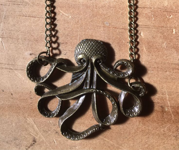 A personal favourite from my Etsy shop https://www.etsy.com/au/listing/556393269/octopus-necklace-steampunk-nautical