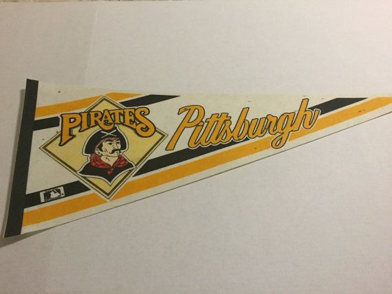 Pittsburgh Pirates, Vintage Pirates Pennant, MLB, Major League Baseball, Baseball Collectible, Sports Collectible, Pennsylvania, Man Cave
