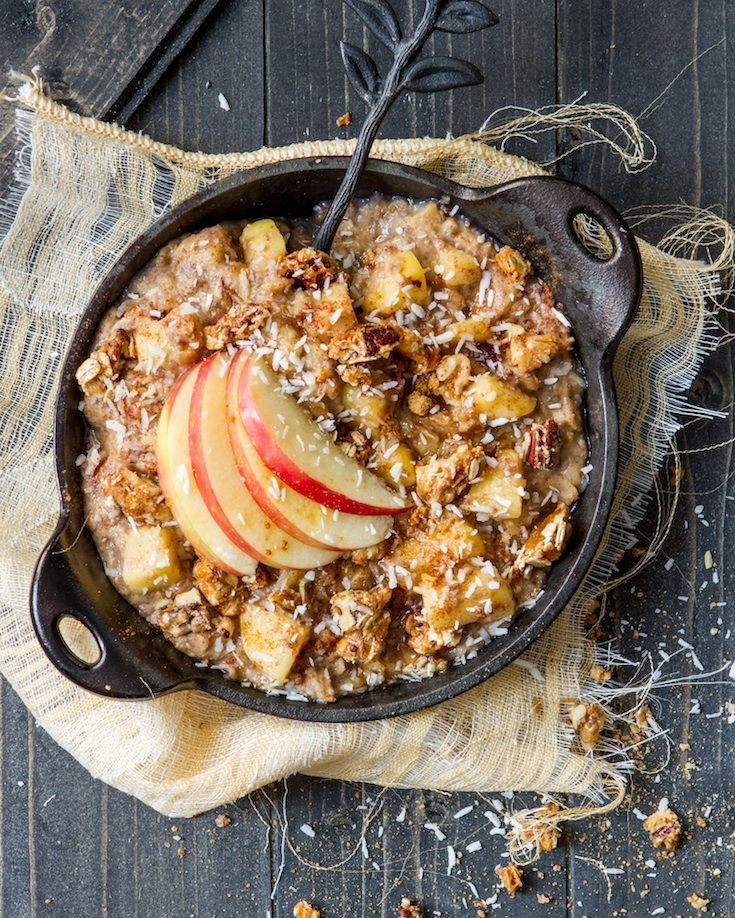 Apple Pie Oatmeal - Angela Liddon