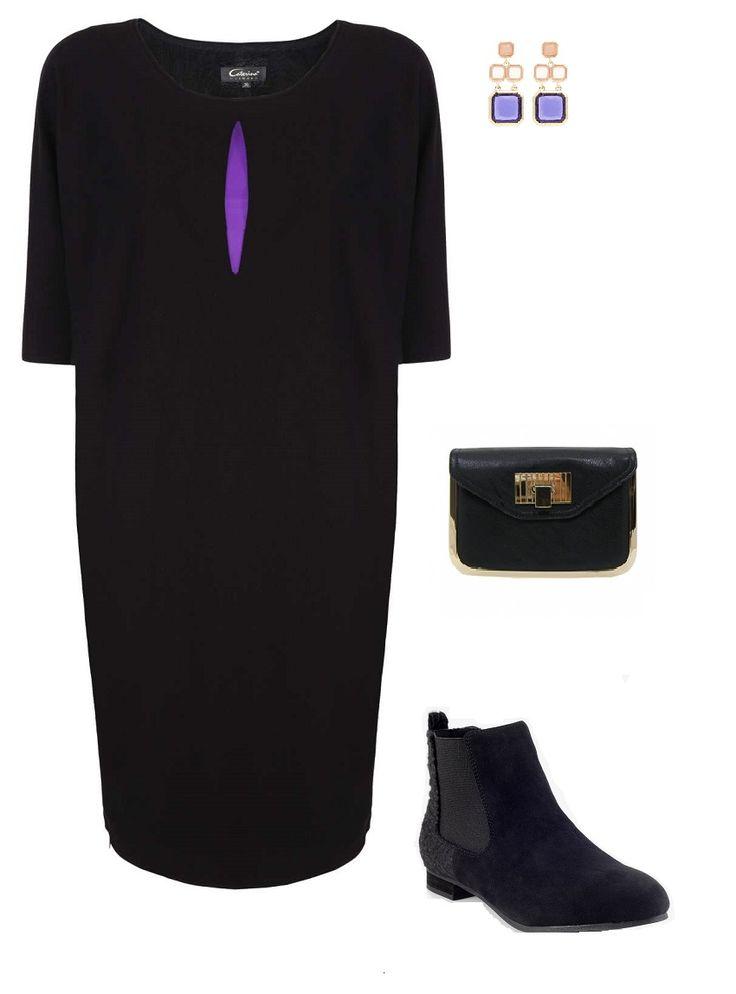 elegant dress, boots, accesorries, www.magazyn.modadamska.waw.pl