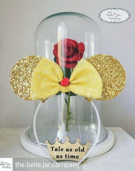 Custom Belle Inspired Minnie Mouse Ears Belle jar from The Belle Jar Company on ETSY