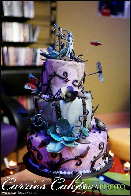 Tim Burton Corpse Bride Wedding Cake   Black and Red in 2018 ...