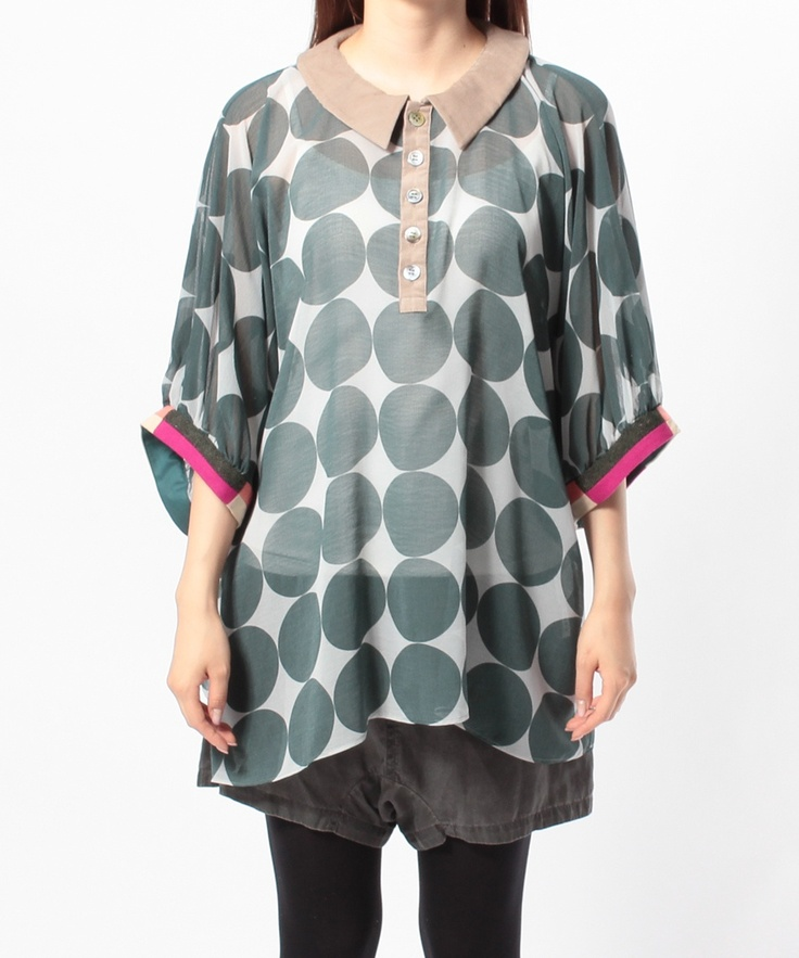 sunaokuwahara / circle circle blouse
