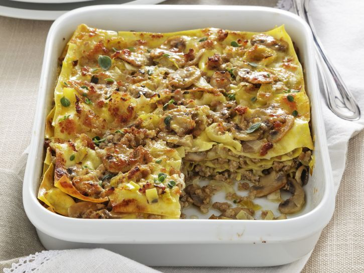 Ricetta Lasagne con ragù bianco agli champignon | Donna Moderna