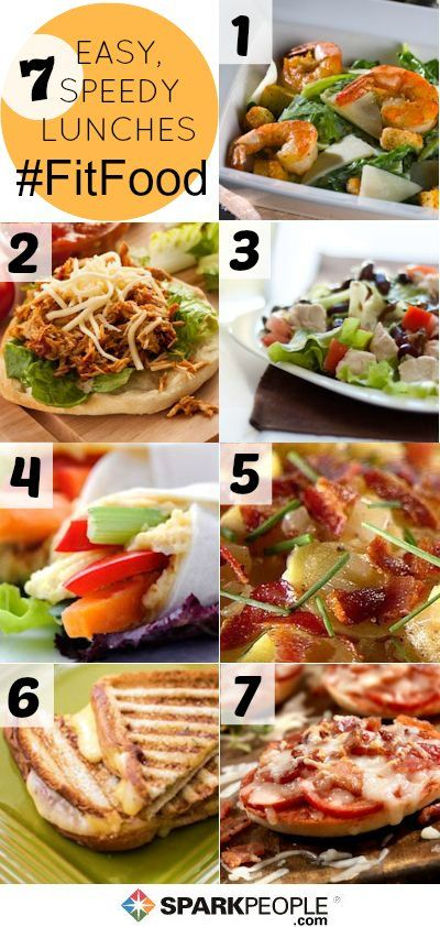 A Week's Worth of Quick & Healthy Lunch Recipes--throw them together in just minutes! |  via @SparkPeople #food #nutrition #fitfood