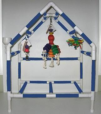 homemade bird toys | Homemade Bird Stands http://hawaiidermatology.com/pvc/pvc-bird-play ...