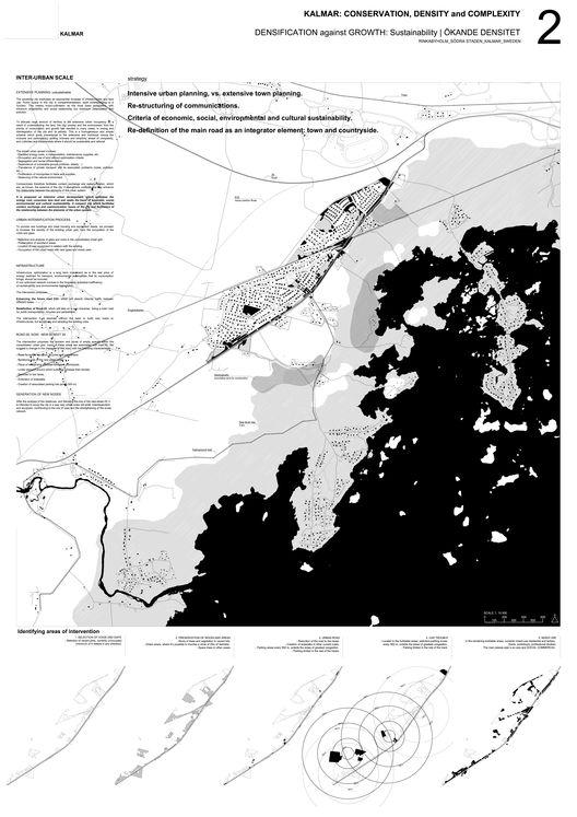 Ganador EUROPAN12: Kalmar; Conservation, density and complexity,Lámina 2 Escala Interurbana