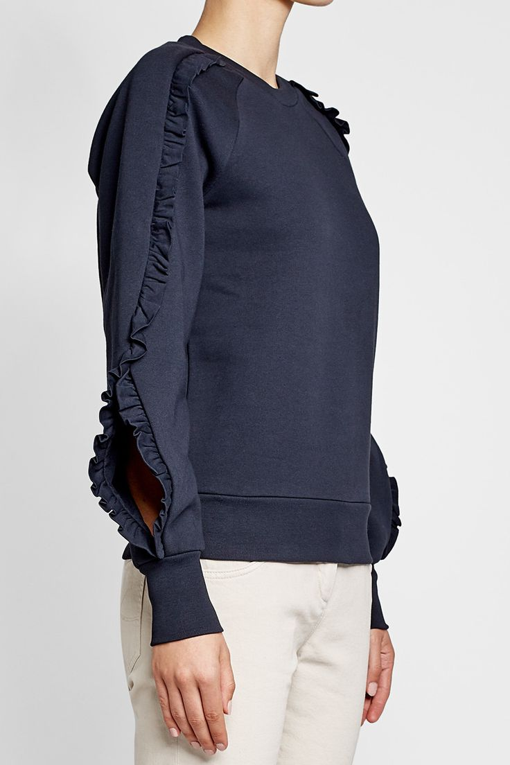 Cotton Sweatshirt with Ruffles - Burberry | WOMEN | DE STYLEBOP.COM