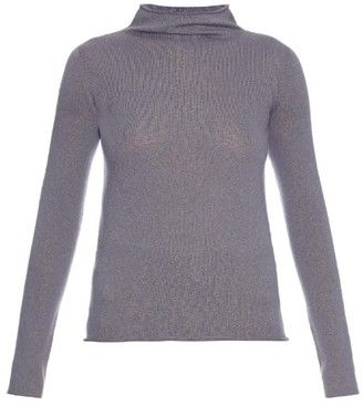 THE ROW Andra cashmere-blend sweater - Shop for women's Sweater - LIGHT PURPLE Sweater