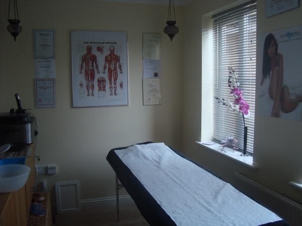 Carolynn Binnie's salon, Herne Bay Massage in Kent  www.hernebaymassage.co.uk