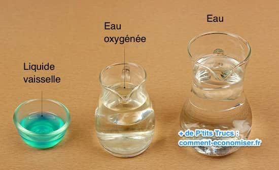 Eau oxygénée et liquide vaisselle pour enlever tache vin rouge