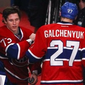 The rookie Alex Galchenyuk et Brendan Gallagher