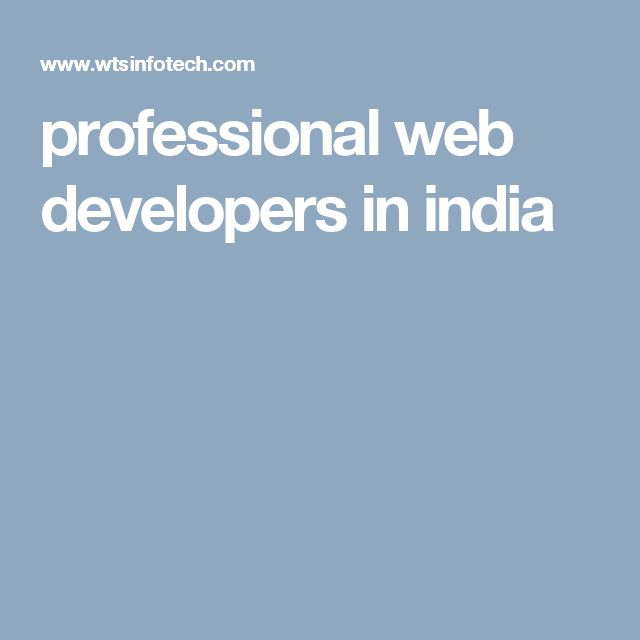 professional web developers in india