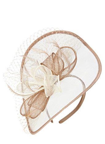 Cream Multi Folded Bow Disc Fascinator