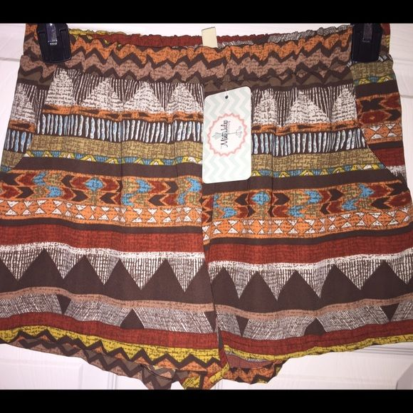 Mint julep boutique tribal shorts Mint julep tribal rust shorts size large brand-new with tags never worn from smoke free home this is no longer in available on the website Mint julep boutique Shorts Skorts