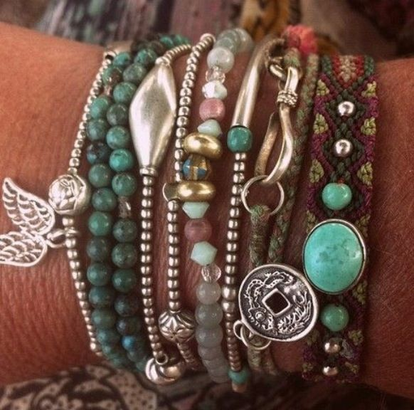 Loving layered bracelets right now...