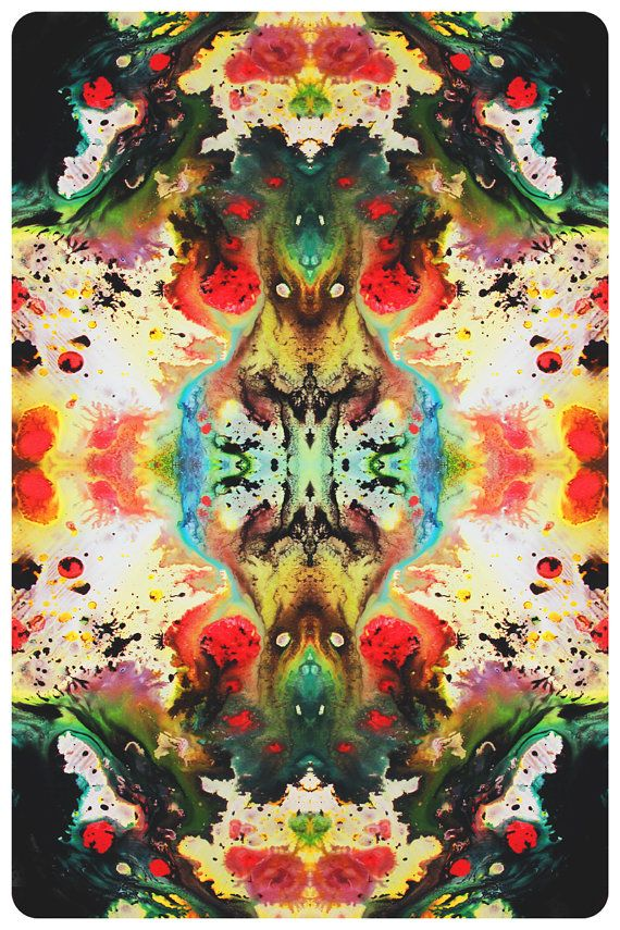 Abstract Art Print, Fine Art Print, Giclee Print, Wall Art, Psychedelic, Abstract Painting, 200x300mm, 8x15.5in