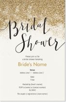 bridal shower gold Invitations & Announcements