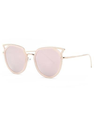 Recortable ojo de gato gafas de sol de espejo