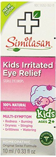 #vision It is a multi-symptom relief. Relieves redness, burning, dryness, stinging, grittiness and watering. #Kids Irritated eye relief stimulates their body's n...