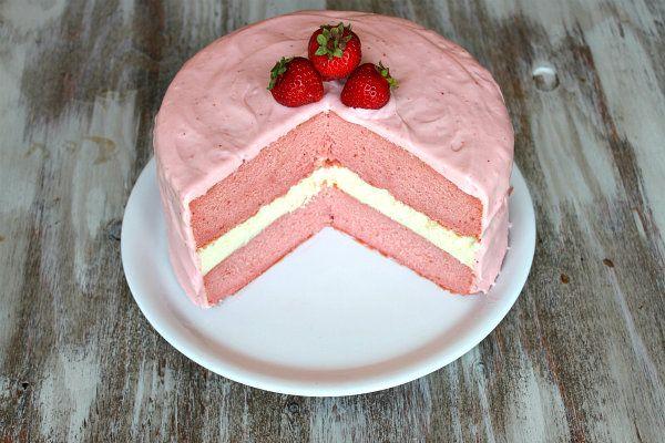 Strawberry Cheesecake Cake 1