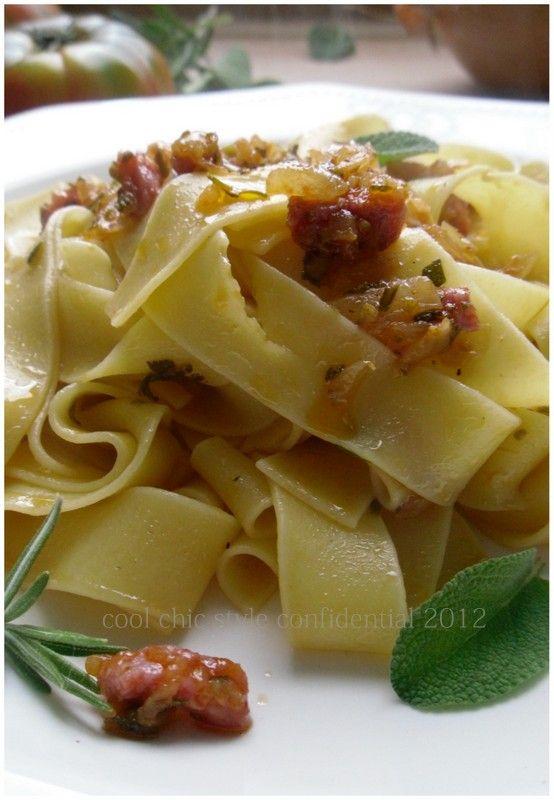 I buoni sapori toscani : Tagliatelle alla maremmana - ( The good flavors of Tuscany: the Maremma tagliatelle )
