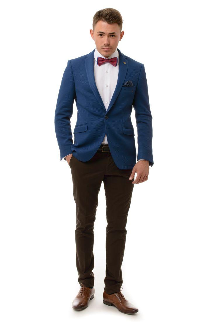 Kék Karcsúsított Sportzakó | Elite Fashion Öltönyház