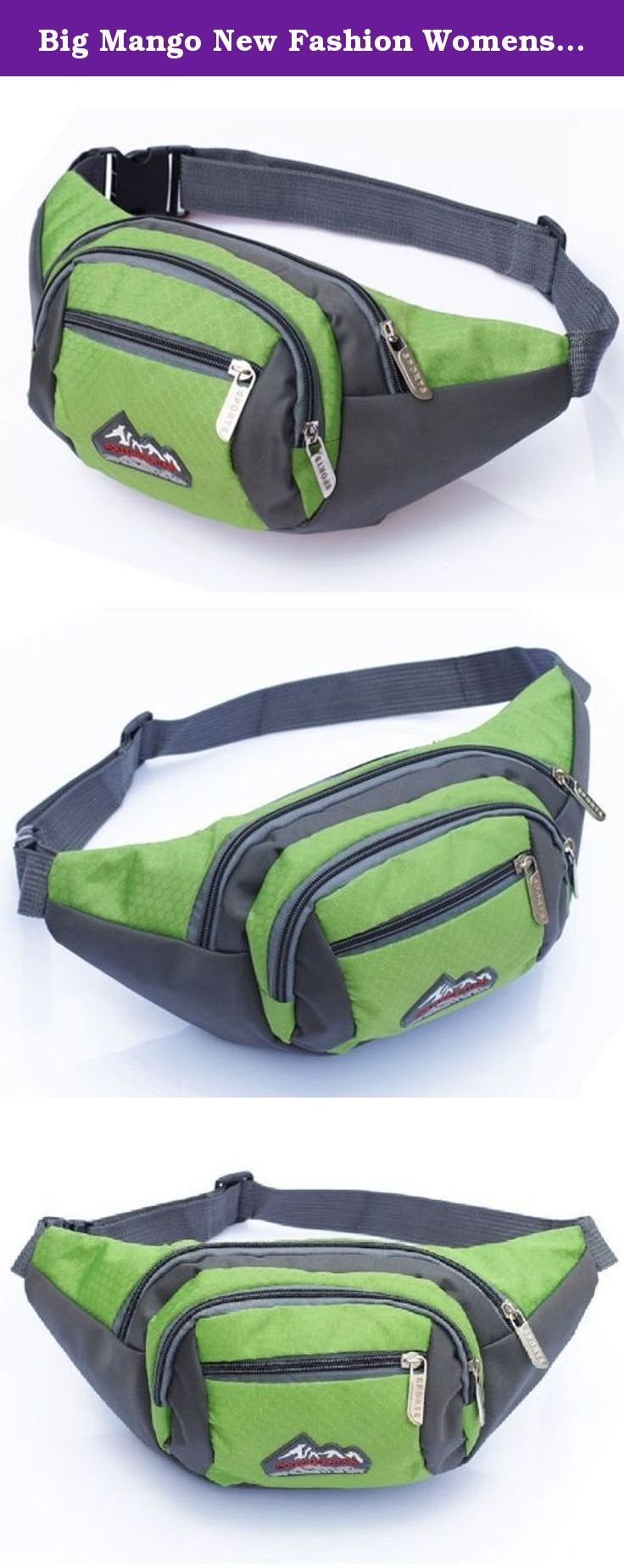 Big Mango New Fashion Womens Sports Bag 4 Zipper Pockets Waist Bag Fanny Chest Pack with Cell Phone Pouch & Automatic Umbrella & Small Personal Stuffs for Both Men and Women Use. Good quality nylon cloth and fine workmanship,great bag for carrying personal stuffs,such as wallets,keys,cell phone and walkman,automatic umbrella,best organizer for travlling and sports.The multiple zippers design makes it neat and keep your things at hand.Outdoor activities and leisure use.