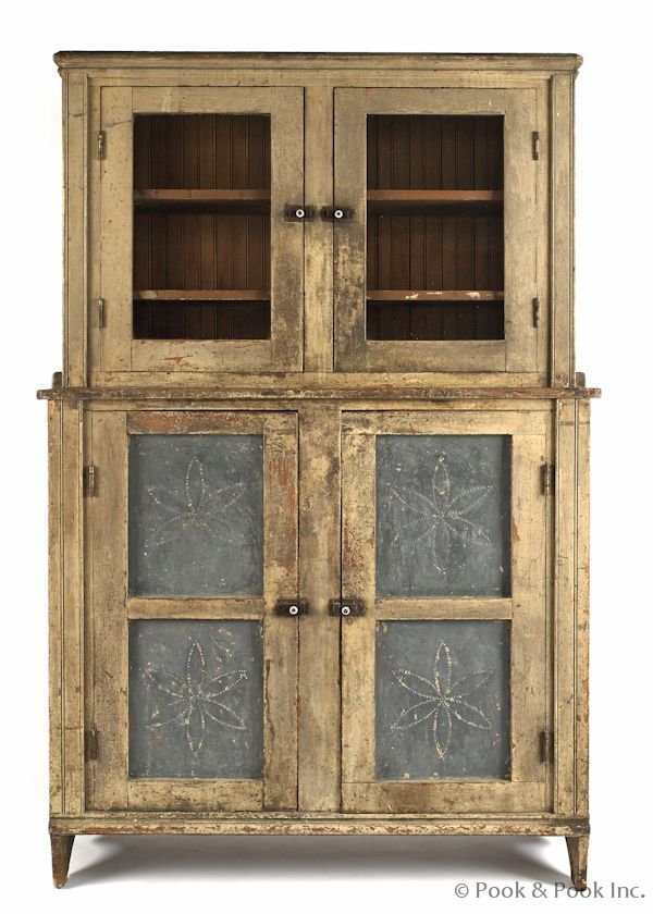 Ohio painted pine pie safe, 19th c., with a punched tin panel base - 122 Best Pie Safes Images On Pinterest Pantries, Pie Safe And Closets