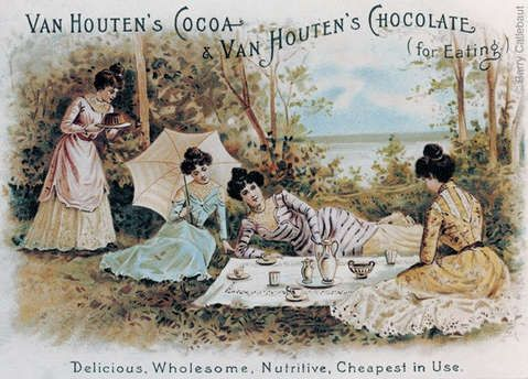 Chocolade wordt na WO1 betaalbaar voor steeds grotere delen van de bevolking. Wikkel: Van Houten
