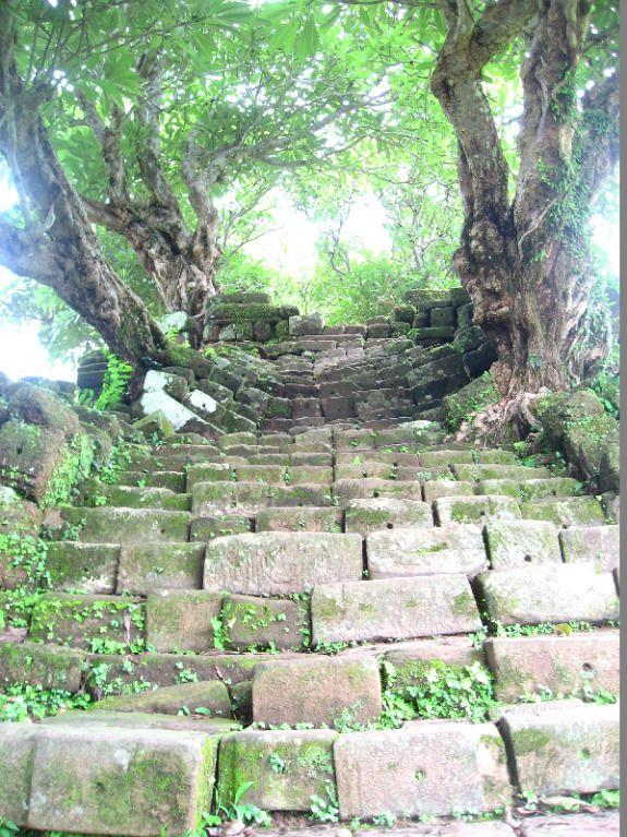 Wat Phu Champasak trappen