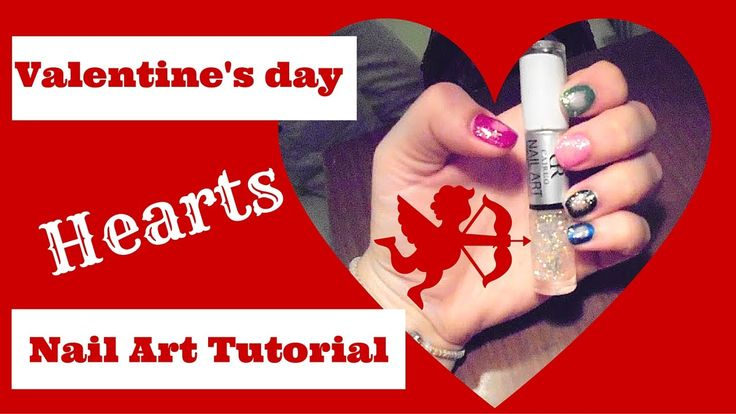 Valentine's day Hearts nail art tutorial I mirtoulini 29 http://youtu.be/d46LqIMMirY #mirtoulini29